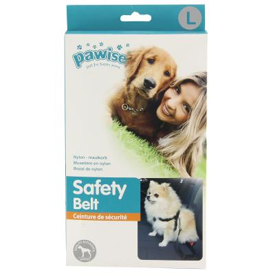 PaWise Car Safety Harness Set With Seat Belt Safety Travel Adapter Connector Attachment Large For Dogs 70-90cm