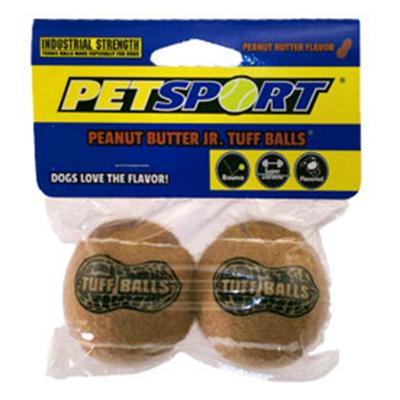 Tuff Peanut Tennis Ball Nonabrasive Felt Toy For Dogs 6cm 2Pack