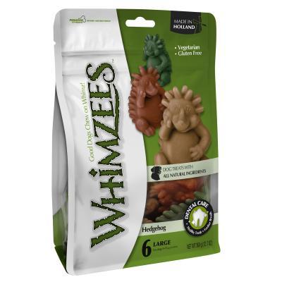 Whimzees Dental Hedgehog Large Treats For Dogs 18-27kg 6Pack 360gm