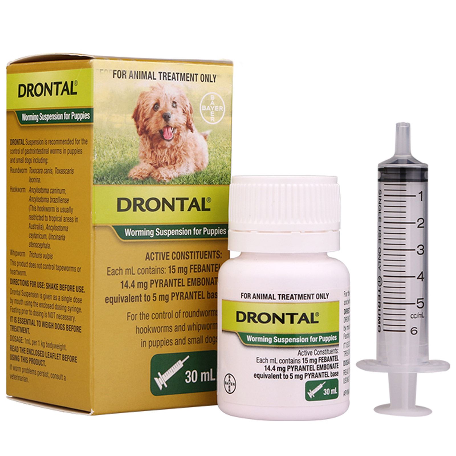 Drontal Worming Suspension Puppies For Dogs 30ml 1767