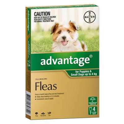Advantage For Dogs Up To 4kg 4 Pack