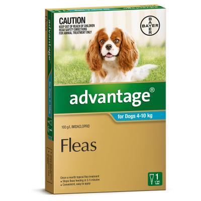 Advantage For Dogs 4-10Kg Single Dose