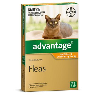 Advantage For Kittens & Small Cats Up To 4kg Single Dose