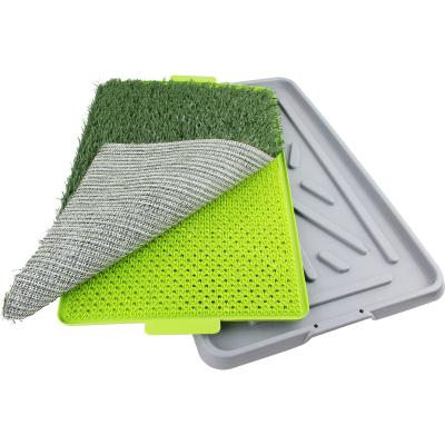 Pawise Green Trainer Indoor Outdoor Toilet For Dogs 68 x 42cm
