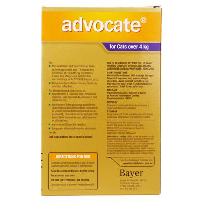 Advocate For Cats Large Over 4kg 3 pack