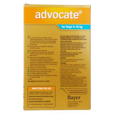 Advocate For Dogs Medium Blue 4-10kg 3 Pack