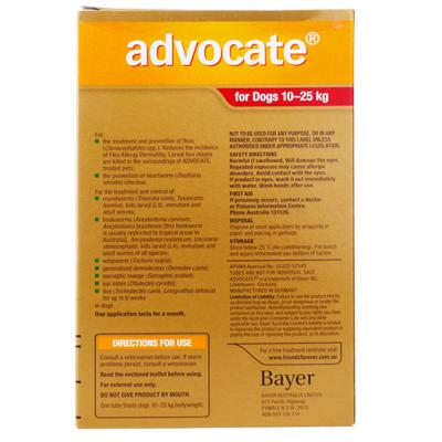 Advocate For Dogs Large Red 10-25kg 3 Pack
