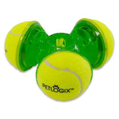 Hyper Petlogix Tennis Throw Trio Medium Large Toy For Dogs