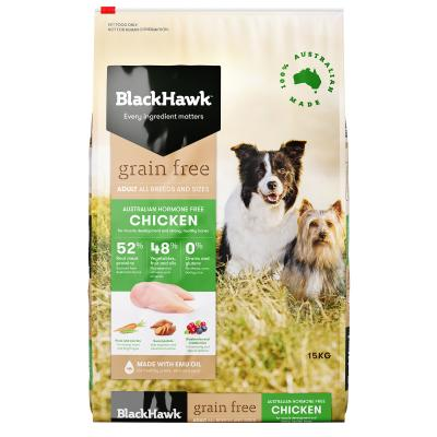 Black Hawk Grain Free Chicken Adult Dry Dog Food 15kg