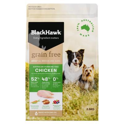 Black Hawk Grain Free Chicken Adult Dry Dog Food 2.5kg