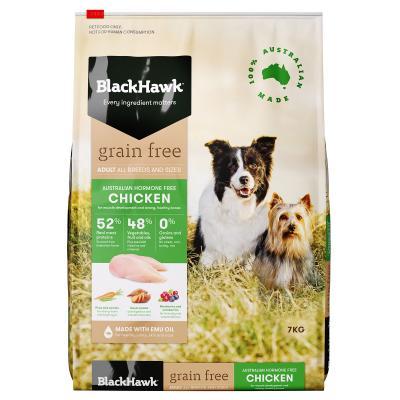 Black Hawk Grain Free Chicken Adult Dry Dog Food 7kg