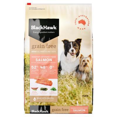 Black Hawk Grain Free Salmon Adult Dry Dog Food 15kg