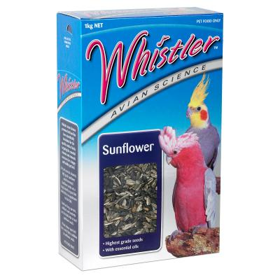 Whistler Avian Science Sunflower Grey Stripe And Black Seed For Birds 1kg
