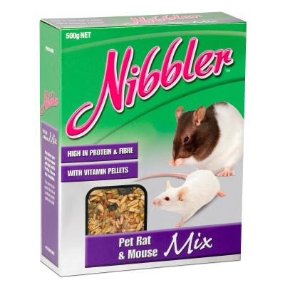 Nibbler Pet Rat And Mouse Mix With Vitamin Pellets 500gm