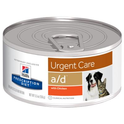 Hills Prescription Diet Canine Feline a/d Urgent Care Chicken Canned Wet Cat Food 156gm x 24 (5670)
