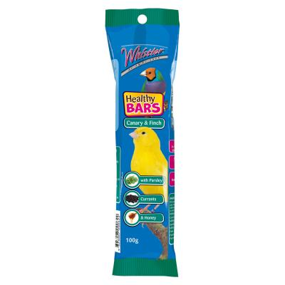 Whistler Avian Science Canary And Finch Healthy Bar Seed With Parsley Currants And Honey Treat For Birds 100gm