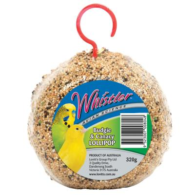 Whistler Avian Science Budgerigar And Canary Lollipop Seed Treat For Birds 320gm