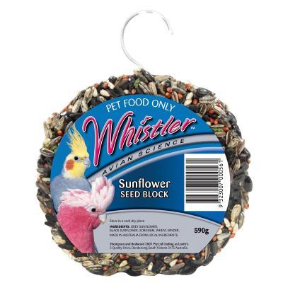 Whistler Avian Science Sunflower Seed Block Treat For Birds 590gm