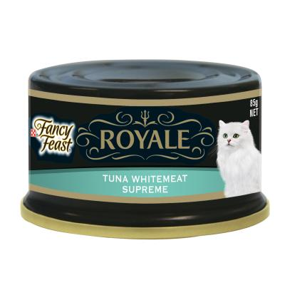 Fancy Feast Royale Tuna & Whitemeat Supreme Adult Canned Wet Cat Food 85g x 24