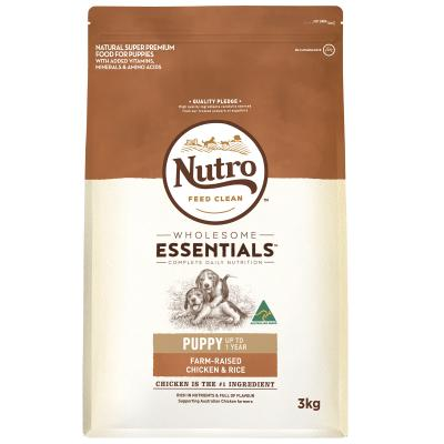 Nutro Wholesome Essentials Farm Raised Chicken Rice Vegetable Puppy Dry Dog Food 3kg