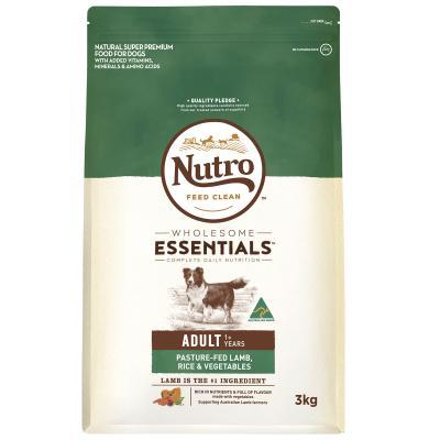 Nutro Wholesome Essentials Pasture Fed Lamb Rice Vegetable Adult Dry Dog Food 3kg