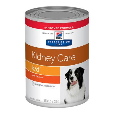 Hills Prescription Diet Canine k/d Kidney Care With Chicken 370gm X 12 Canned Wet Dog Food (7010)