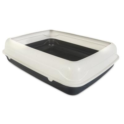 Trouble & Trix Litter Tray With Removable Hygiene Rim For Cats