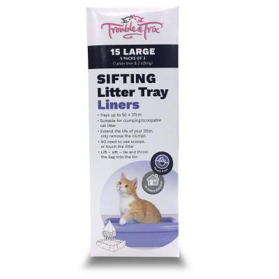 Trouble & Trix Sifting Litter Tray Liner Kit Large For Cats x 5