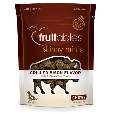 Fruitables Skinny Mini Grilled Bison Grain Free Soft Baked Treats For Dogs 141gm