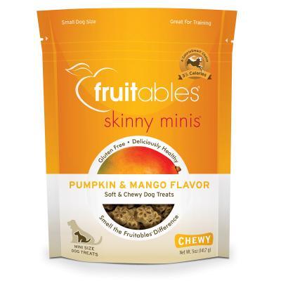 Fruitables Skinny Mini Pumpkin And Mango Grain Free Soft Baked Treats For Dogs 141gm