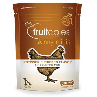 Fruitables Skinny Mini Rotisserie Chicken Grain Free Soft Baked Treats For Dogs 141gm