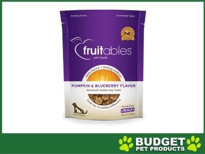 Fruitables Crunchy Pumpkin And Blueberry Cookie Treats For Dogs 198gm