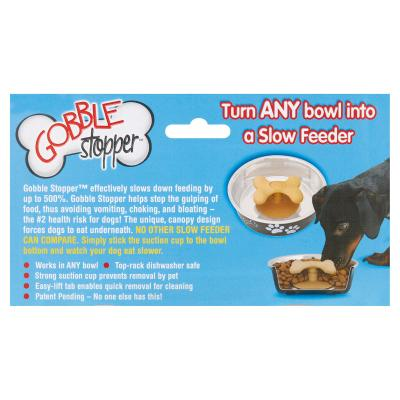 Loving Pets Gobble Stopper Small Slow Feeder Attachment For Dog Bowls
