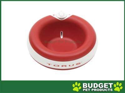 Torus Filtered Water Dispenser Bowl For Cats And Dogs Red 2L