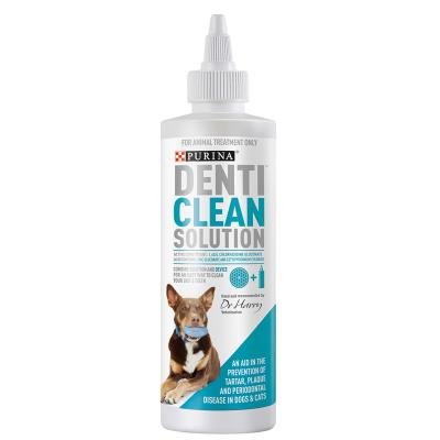 Purina Denti Clean Dental Solution Mouthwash For Use With Denti Floss And Denti Device Toys For Dogs 250ml