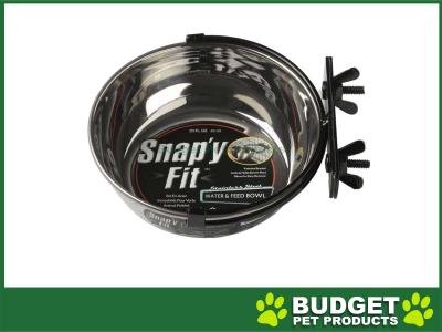 Midwest Snapy Fit Stainless Steel Crate And Cage Bowl For Cats And Dogs 20oz (591ml)