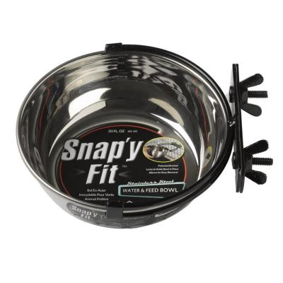 Midwest Snapy Fit Stainless Steel Crate And Cage Bowl 20oz (591ml)