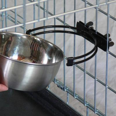 Midwest Snapy Fit Stainless Steel Crate And Cage Bowl For Cats And Dogs 64oz (1892ml)