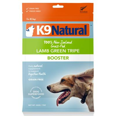 K9 Natural Booster Lamb Green Tripe Freeze Dried Meat Digestive Supplement For Dogs 200g