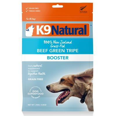 K9 Natural Booster Beef Green Tripe Freeze Dried Meat Digestive Supplement For Dogs 250g