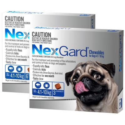 NexGard For Dogs Blue Small 4.1-10kg 9 Pack