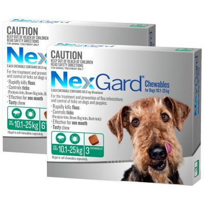 NexGard For Dogs Green Medium 10.1-25kg 9 Pack