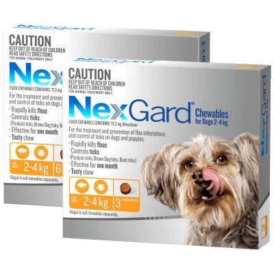 NexGard For Dogs Orange Very Small 2.0-4kg 9 Pack