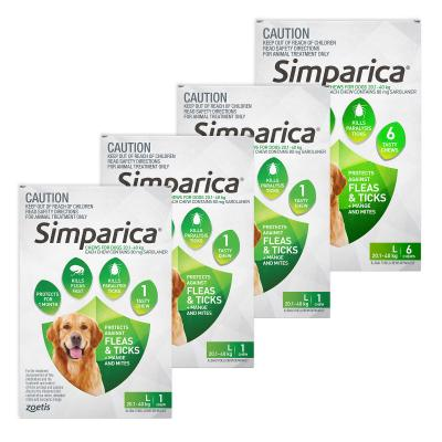 Simparica For Dogs 20.1-40kg Green Large 9 Chews