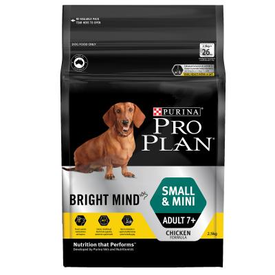 Pro Plan Bright Mind Chicken Small Mini Mature Adult 7+ Dry Dog Food 2.5kg