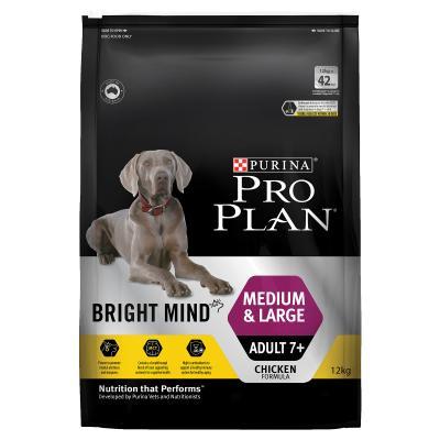 Pro Plan Bright Mind Chicken Medium Large Breed Mature Adult 7+ Dry Dog Food 12kg
