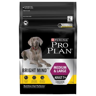 Pro Plan Bright Mind Chicken Medium Large Breed Mature Adult 7+ Dry Dog Food 2.5kg