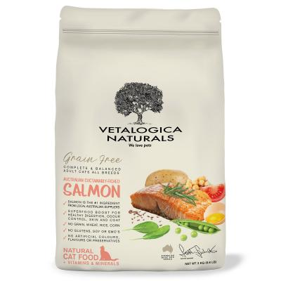 Vetalogica Naturals Grain Free Salmon Adult Dry Cat Food 3kg