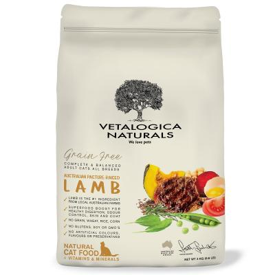 Vetalogica Naturals Grain Free Lamb Adult Dry Cat Food 3kg