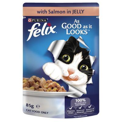 Felix Multipack Ocean Menu Tuna Salmon Sardine In Jelly Pouches Wet Cat Food 85gm x 12